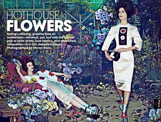 VOGUE MAGAZINE- Carolyn Murphy & Karen Elson in Hothouse Flowers by Steven Klein. Grace Coddington, January 2013, www.imageamplified.com, Image Amplified
