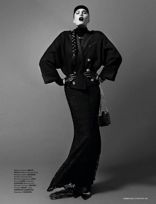 L'OFFICIEL UKRAINE- Alla Kostromichova in Top Model by Natali Arefieva. Alexander Rogov, November 2012, www.imageamplified.com, Image Amplified (3)