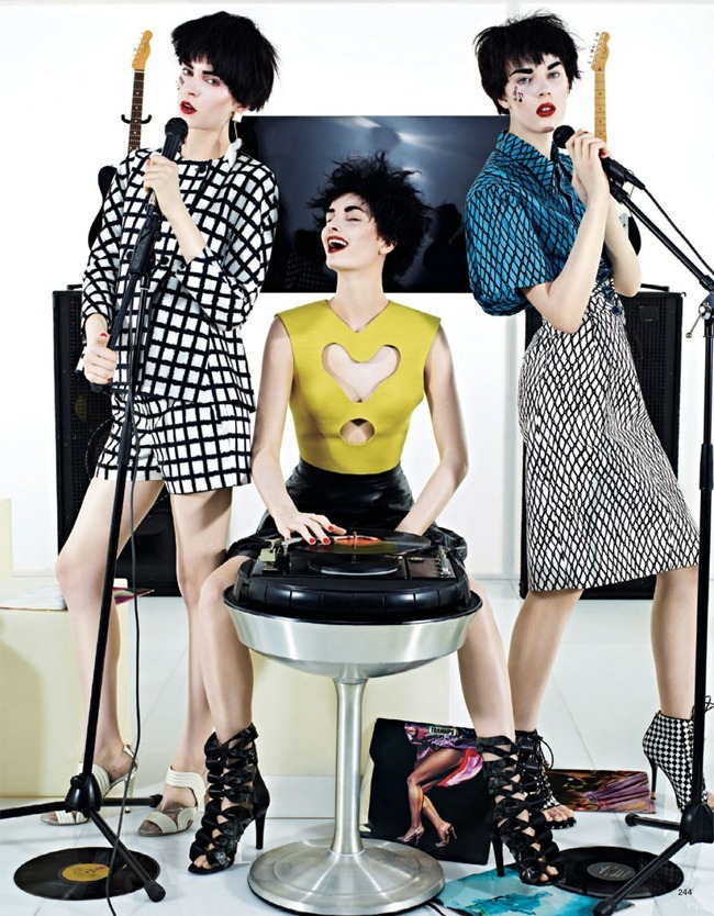 VOGUE JAPAN- Girls In The Band by Sharif Hamza. Giovanna Battaglia, February 2013, www.imageamplified.com, Image Amplified (1)