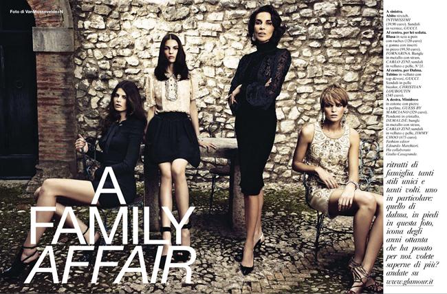 GLAMOUR ITALIA- A Family Affair by Vanmossevelde N. Edoardo Marchiori, December 2012, www.imageamplified.com, Image Amplified