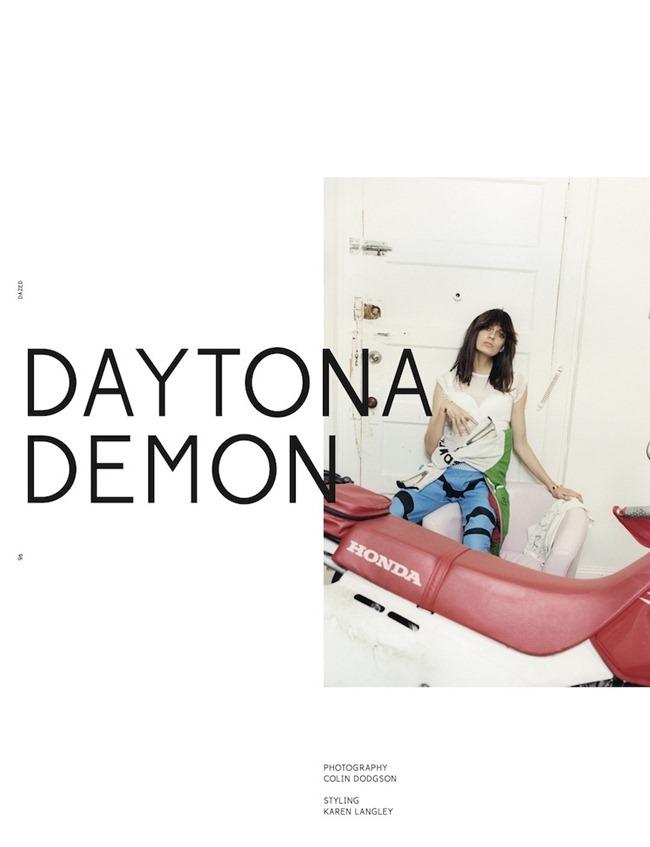 DAZED & CONFUSED MAGAZINE- Erjona Ala in Daytona Demon by Colin Dodgson. Karen Langley, January 2013, www.imageamplified.com, Image Amplified
