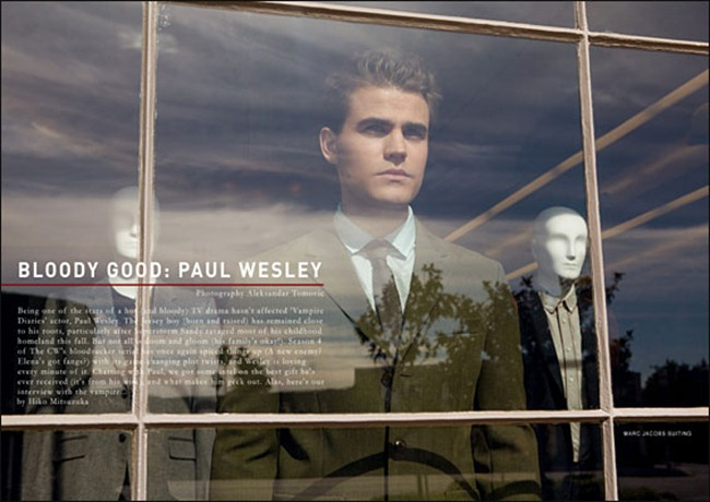 BELLO MAGAZINE- Paul Wesley in Bloody Good by Aleksander Tomovic. www.imageamplified.com, Image Amplified