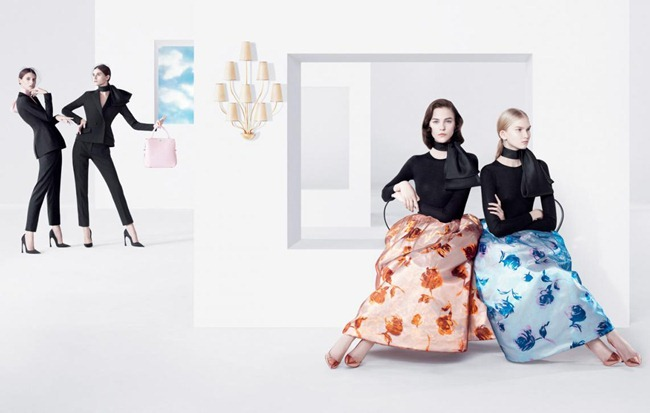 CAMPAIGN- Daria Strokous, Anna Martynova, Daiane Conterato & Marie Piovesan for Christian Dior Spring 2013 by Willy Vanderperre. www.imageamplified.com, Image Amplified