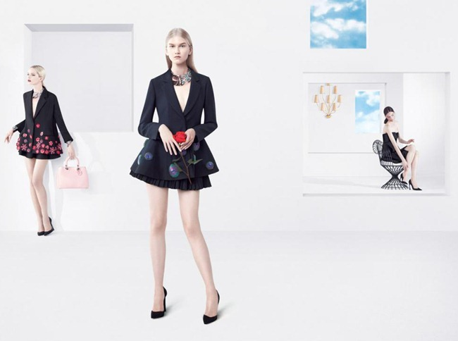 CAMPAIGN- Daria Strokous, Anna Martynova, Daiane Conterato & Marie Piovesan for Christian Dior Spring 2013 by Willy Vanderperre. www.imageamplified.com, Image Amplified (1)