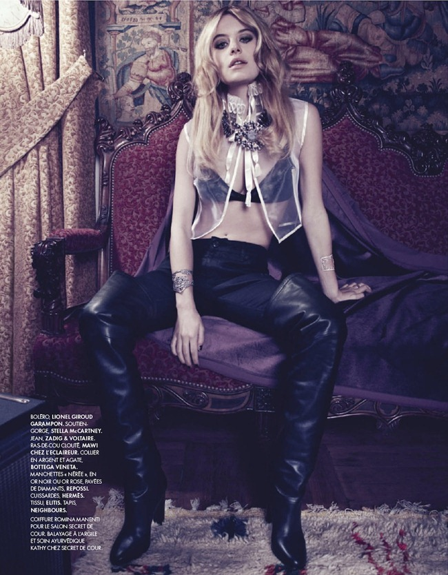 ELLE FRANCE- Camille Rowe in SExe, Mode & Rock'n Roll by Max Vadukul. Elissa Cannelle Castelbou, December 2012, www.imageamplified.com, Image Amplified (3)