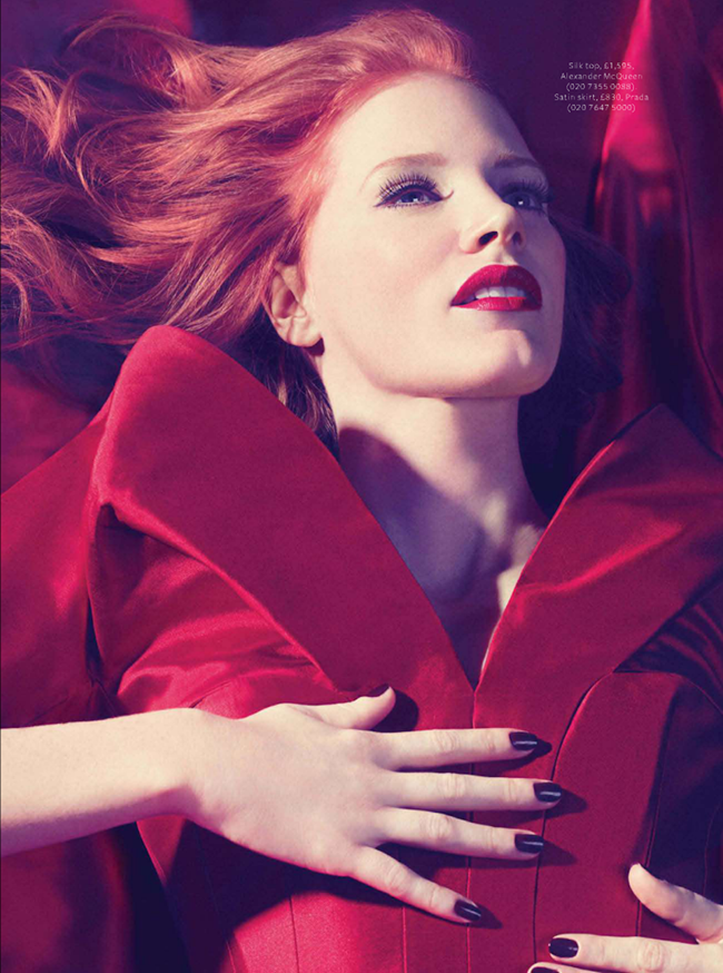 INSTYLE UK- Jessica Chastain in Red Alert by Micaela Rossato. Amanda Bellan, February 2013, www.imageamplified.com, Image Amplified (2)