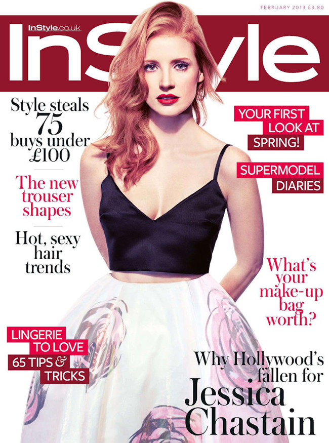 INSTYLE UK- Jessica Chastain in Red Alert by Micaela Rossato. Amanda Bellan, February 2013, www.imageamplified.com, Image Amplified