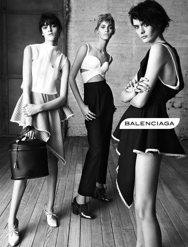 CAMPAIGN- Kremi Otashliyska, Kirstin Liljegren & Sam Rollinson for Balenciaga Spring 2013 by Steven Meisel. www.imageamplified.com, Image Amplified (1)