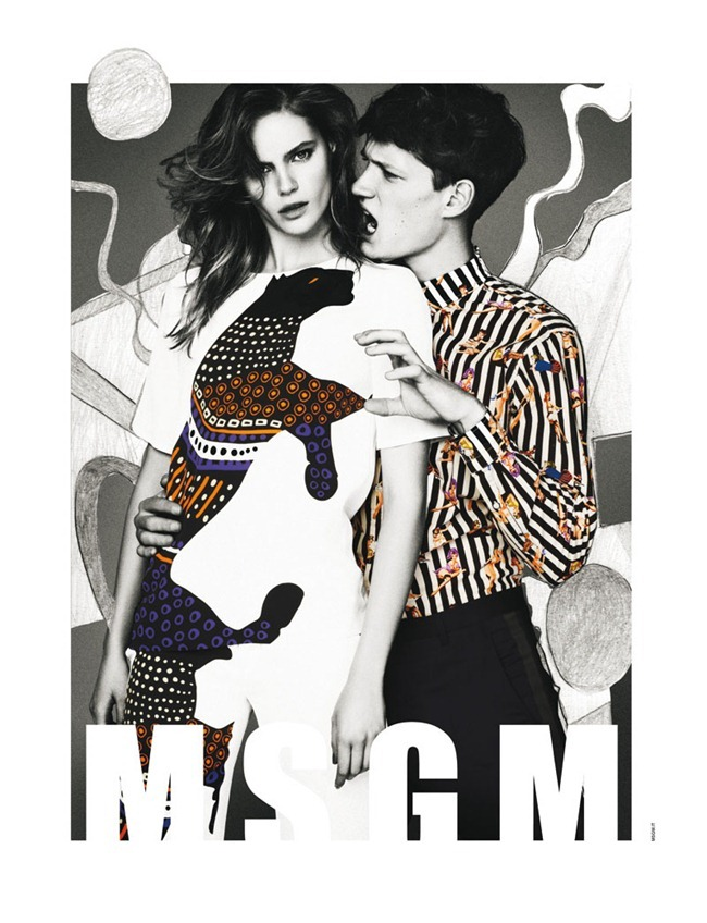 CAMPAIGN- Juju Ivanyuk & Florian Van Bael for MSGM Spring 2013 by Giampaolo Sgura, www.imageamplified.com, Image Amplified (2)