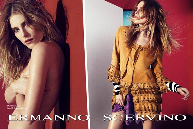 CAMPAIGN- Dree Hemingway & Sebastian Lund for Ermanno Scervino Spring 2013. www.imageamplified.com, Image Amplified