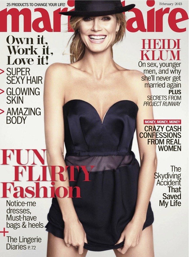 MARIE CLAIRE MAGAZINE- Heidi Klum in The Heidi Chronicles by TEsh. Laura Ferrara, February 2013, www.imageamplified.com, Image Amplified