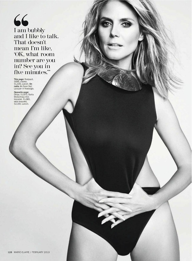 MARIE CLAIRE MAGAZINE- Heidi Klum in The Heidi Chronicles by TEsh. Laura Ferrara, February 2013, www.imageamplified.com, Image Amplified (4)