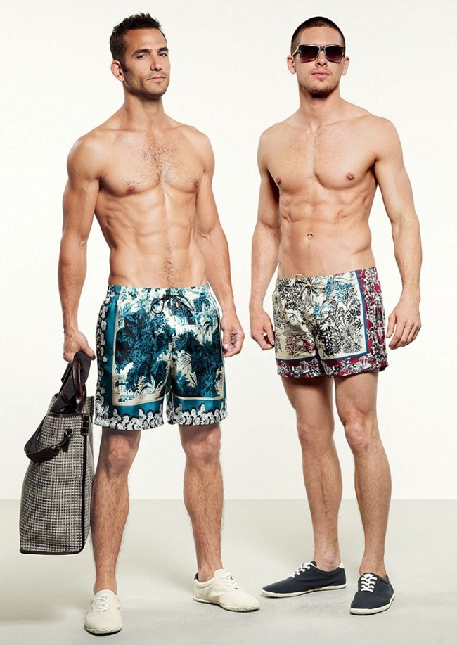 LOOKBOOK- Adam Senn, Enrique Palacios, Elbio Bonsaglio, Jae Yoo, Paolo Anchisi & Tomas Guarracino for Dolce & Gabbana Beachwear Collection Spring 2013. www.imageamplified.com, Image Amplified