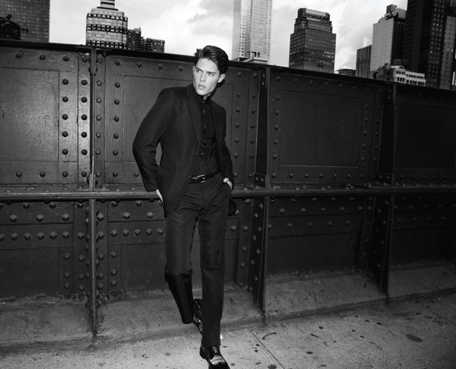 CLIENT MAGAZINE- Cesar Casier in Sharp Dressed Man by Joseph Sinclair. Roy Fire, Tal Peer, www.imageamplified.com, Image Amplified