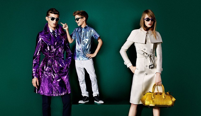 CAMPAIGN- Romeo Beckham, Charlie France, Max Rendell & Alex Dunstan for Burberry Prorsum Spring 2013 by Mario Testino. www.imageamplified.com, Image Amplified