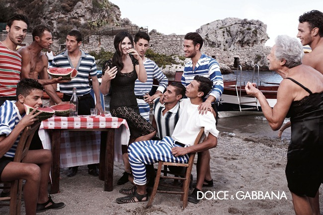 CAMPAIGN- Monica Bellucci & Others for Dolce & Gabbana Menswear Spring 2013 by Domenico Dolce. Stefano Gabbana, www.imageamplified.com, Image Amplified (7)