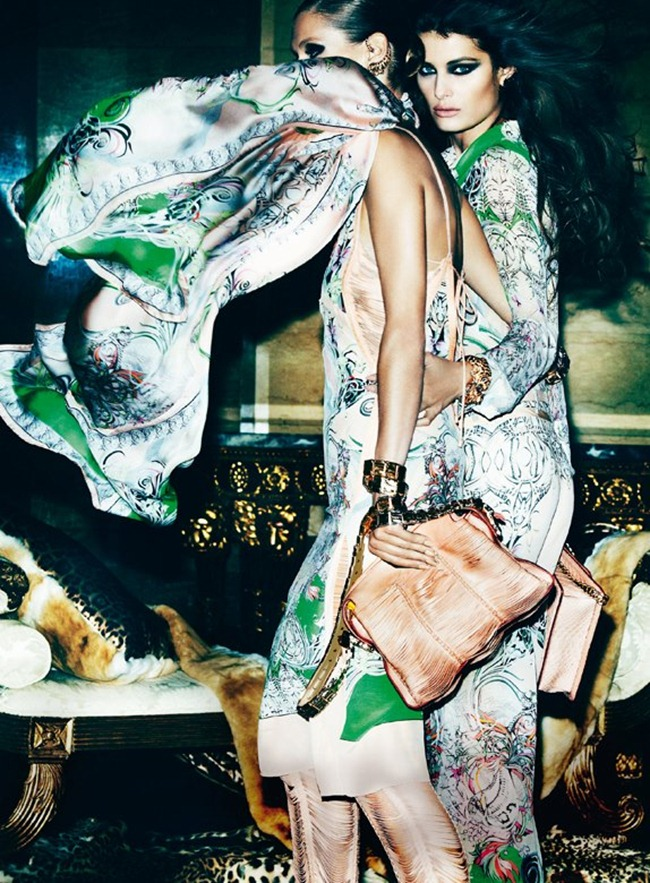 CAMPAIGN- Malgosia Bela, Isabeli Fontana & Sui He for Roberto Cavalli Spring 2013 by Mario Testino. www.imageamplified.com, Image Amplified (3)