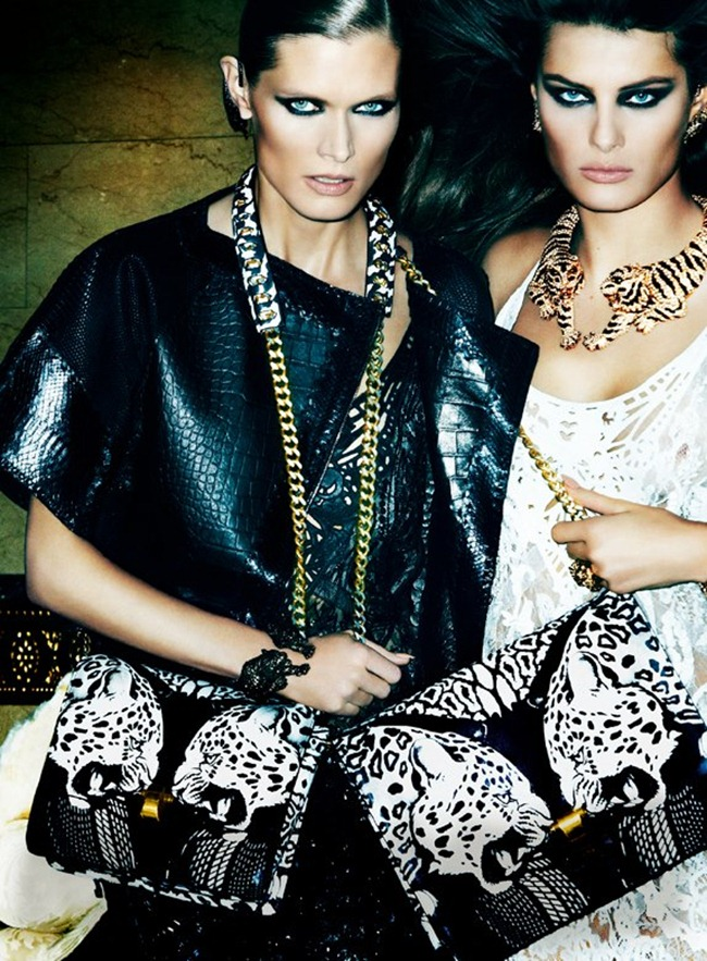 CAMPAIGN- Malgosia Bela, Isabeli Fontana & Sui He for Roberto Cavalli Spring 2013 by Mario Testino. www.imageamplified.com, Image Amplified (6)