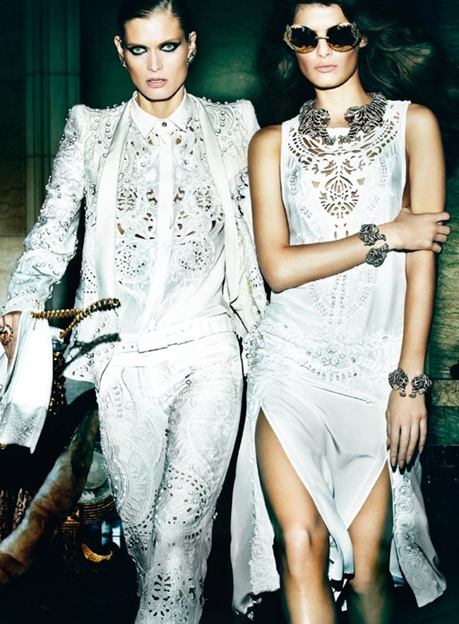 CAMPAIGN- Malgosia Bela, Isabeli Fontana & Sui He for Roberto Cavalli Spring 2013 by Mario Testino. www.imageamplified.com, Image Amplified