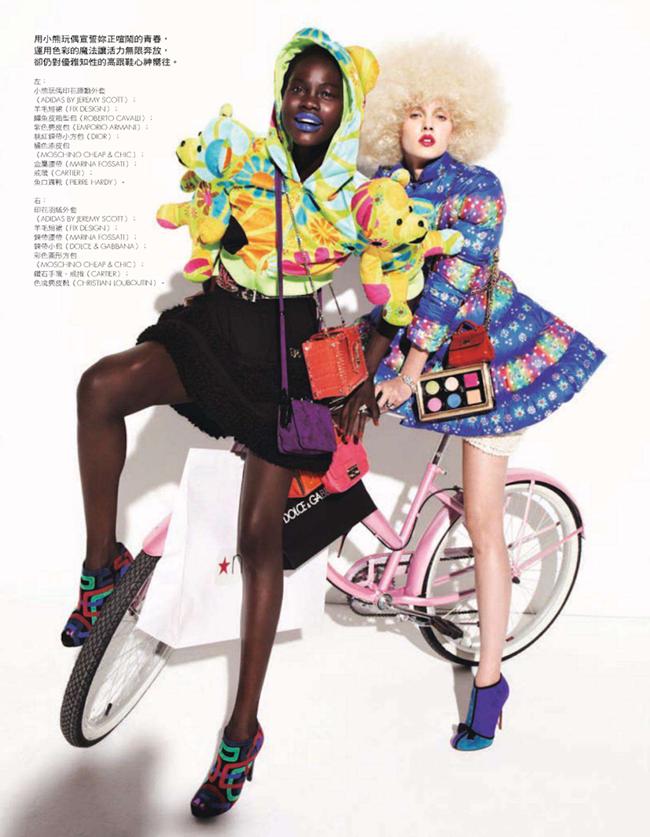 ELLE TAIWAN- Daria Popova & Atong Arjok in Crazy In Shopping by Mark Pillai. Carola Bianchi, January 2013, www.imageamplified.com, Image Amplified (7)