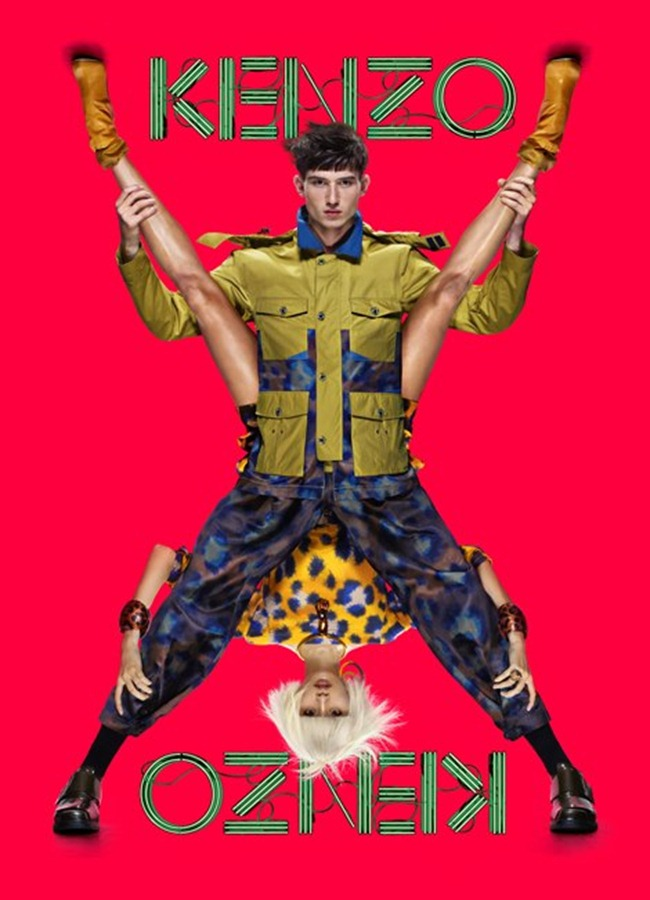 CAMPAIGN- Ming Xi & Jester for Kenzo Spring 2013 by Jean-Paul Goude. www.imageamplified.com, Image Amplified (3)