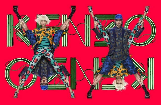 CAMPAIGN- Ming Xi & Jester for Kenzo Spring 2013 by Jean-Paul Goude. www.imageamplified.com, Image Amplified (1)