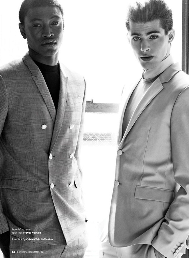 ESSENTIAL HOMME- Jamie Wise, Dominique Hollington & Florian Neuville by Mark Drew. www.imageamplified.com, Image Amplified