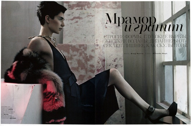 VOGUE RUSSIA- Janice Alida by Greg Harris. Natasha Royt, January 2013, www.imageamplified.com, Image Amplified