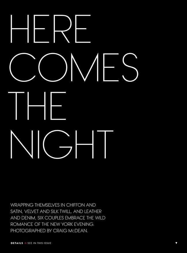 VOGUE MAGAZINE- Here Comes The Night by Craig McDean. Camilla Nickerson, February 2013, www.imageamplified.com, Image Amplified