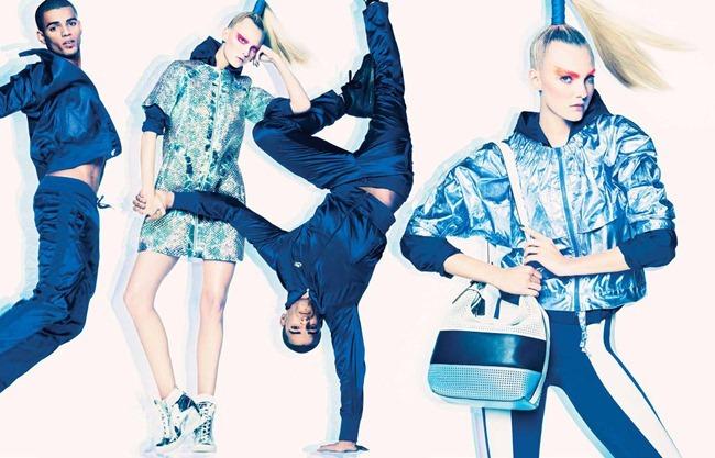 W MAGAZINE- Caroline Trentini, Brahim Zaibat & Louic Mabanza in Sporty Spice by Tom Munto. Giovanna Battaglia, February 2013, www.imageamplified.com, Image Amplified (2)