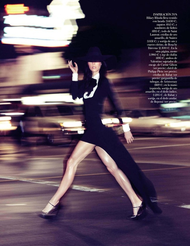 VOGUE SPAIN- Hilary Rhoda in Black Tie by Alexi Lubomirski. Belen Antolin, February 2013, www.imageamplified.com, Image Amplified