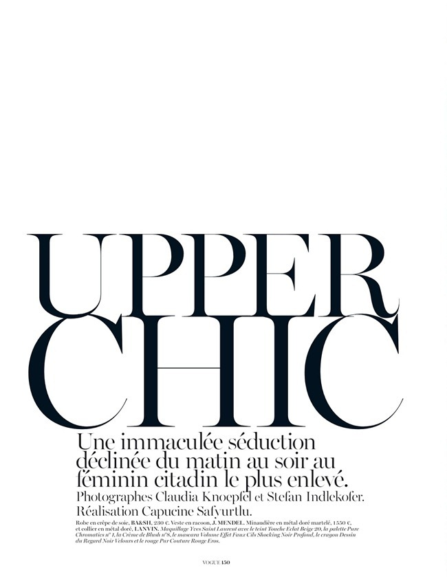 VOGUE PARIS- Nadja Bender in Upper Chic by Knoepfel & Indlekofer. Capucine Safyurtlu, February 2013, www.imageamplified.com, Image Amplified