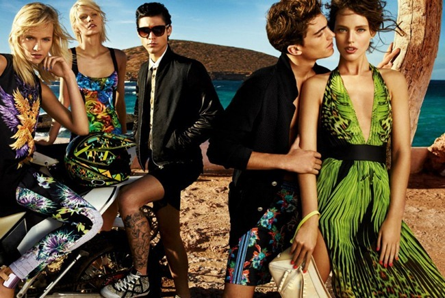 CAMPAIGN- Aline Weber, Emily DiDonato, Ginta Lapina, Chris Bunn, Chris Petersen & Thomas Guarracino for Just Cavalli Spring 2013 by Giampaolo Sgura. www.imageamplified.com, Image Amplified (3)