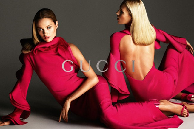 CAMPAIGN- Anja Rubik, Karmen Pedaru & Clement Chabernaud for Gucci Spring 2013 by Mert & Marcus. www.imageamplified.com, Image Amplified