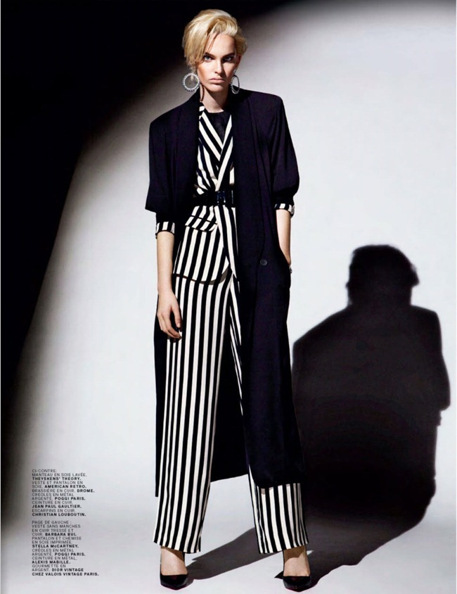 JALOUSE MAGAZINE- Lisa Verberght in Black Stripes by Bjarne Jonasson. Anne Sophie Thomas, February 2013, www.imageamplified.com, Image Amplified (6)