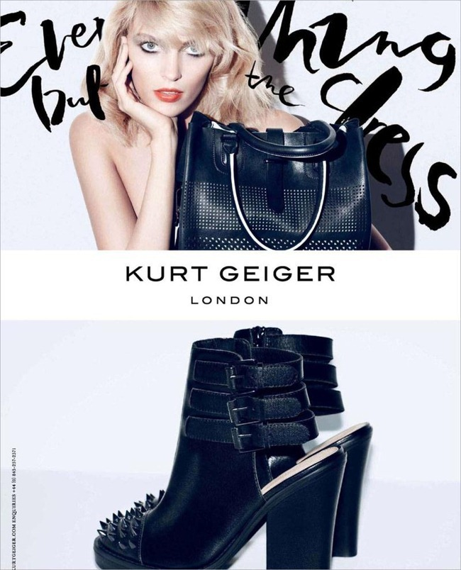 CAMPAIGN- Anja Rubik for Kurt Geiger London Spring 2013 by Sarah Richardson. www.imageamplified.com, Image Amplified