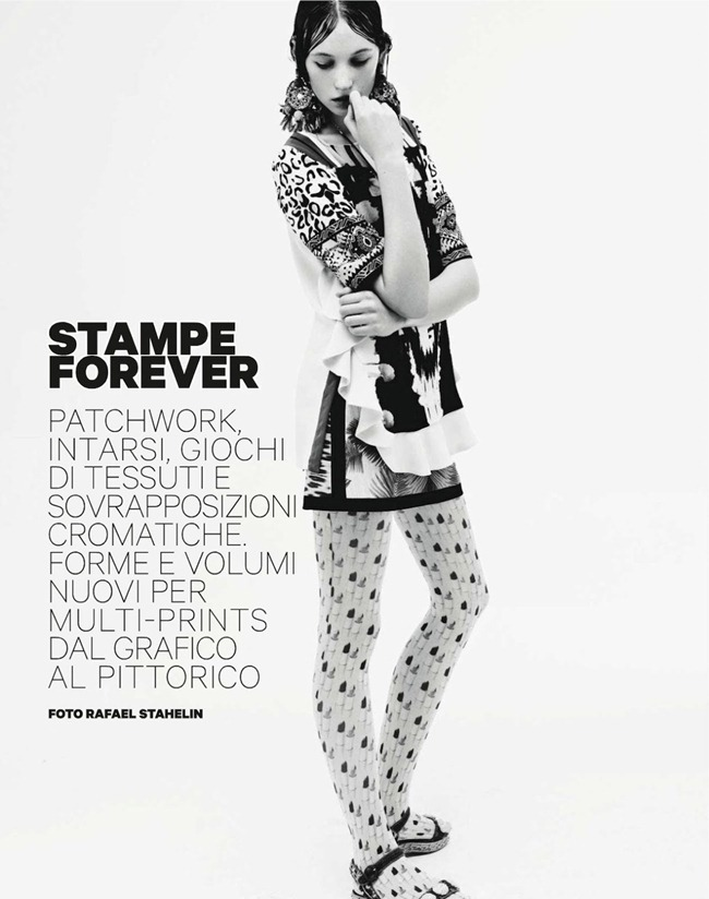 AMICA MAGAZINE- Kate Driscoll, VAsilisa Pavlova, Isabelle Nicolay & Irina Denisova in Stampe Forever by Rafael Stahelin. Ye Young Kim, February 2013, www.imageamplified.com, Image Amplified