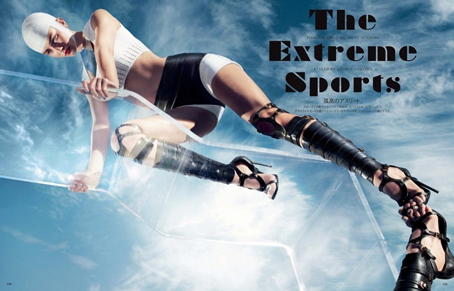 VOGUE JAPAN- Andreea Diaconu in The Extreme Sports by Solve Sundsbo. George Cortina, March 2013, www.imageamplified.com, Image Amplified