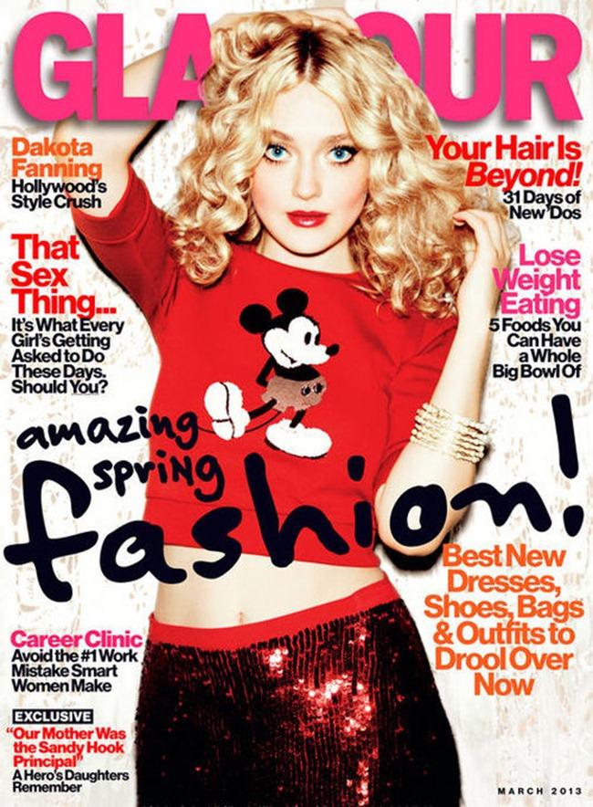 GLAMOUR MAGAZINE- Dakota Fanning by Ellen von Unwerth. Anne Christensen, March 2013, www.imageamplified.com, Image Amplified