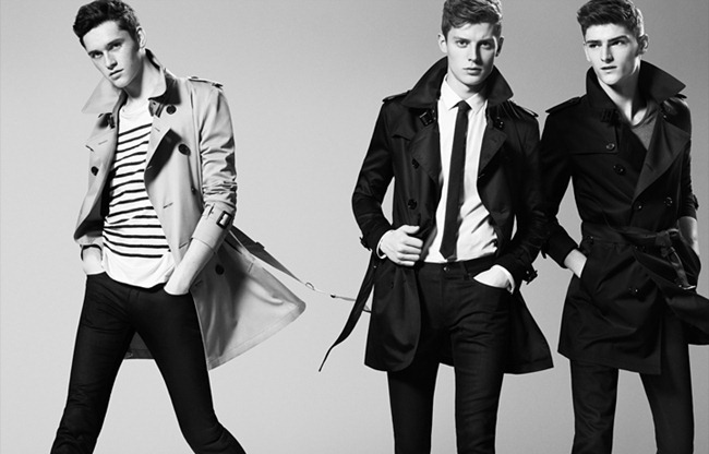 CAMPAIGN- Anders Hayward, Alexander Beck & Janis Ancens for Burberry Black Label Spring 2013. www.imageamplified.com, Image Amplified