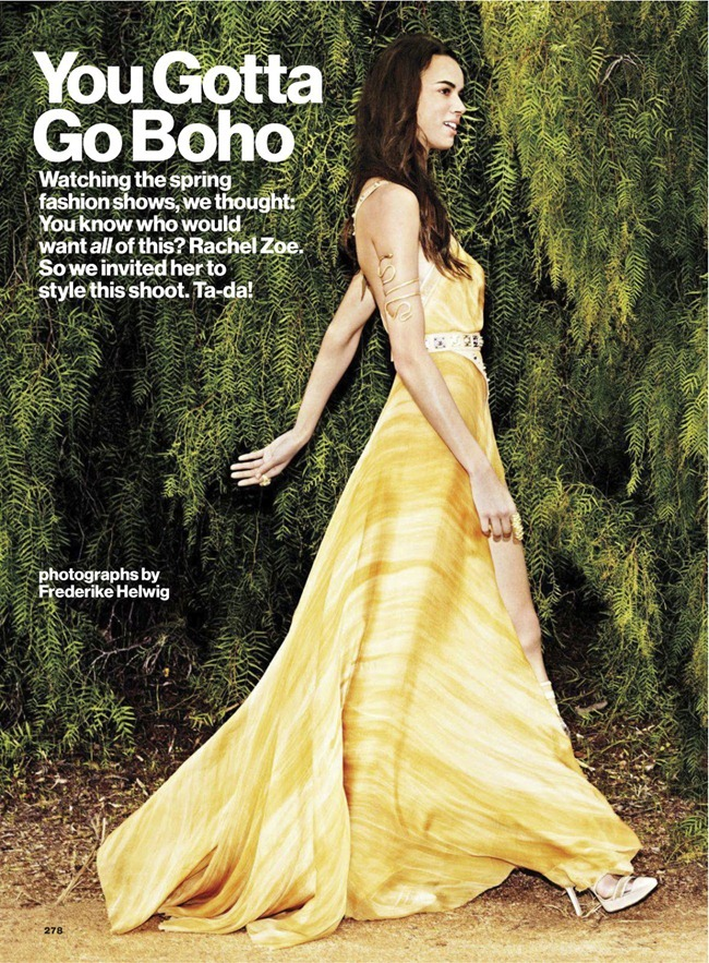 GLAMOUR MAGAZINE- Hind Sahli & Melissa Johannsen in You Gotta Go Boho by Frederike Helwig. Rachel Zoe, March 2013, www.imageamplified.com, Image Amplified