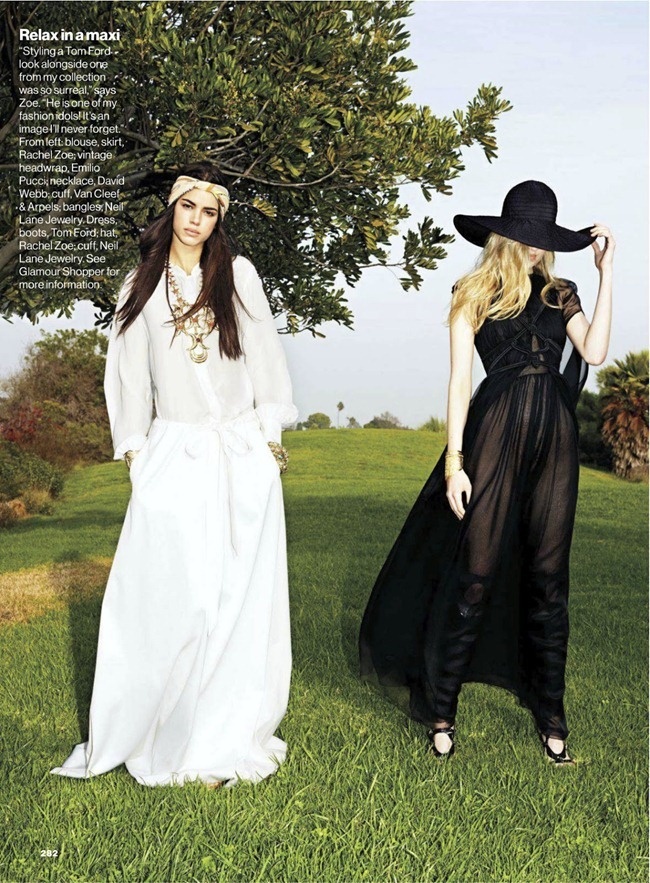 GLAMOUR MAGAZINE- Hind Sahli & Melissa Johannsen in You Gotta Go Boho by Frederike Helwig. Rachel Zoe, March 2013, www.imageamplified.com, Image Amplified (4)