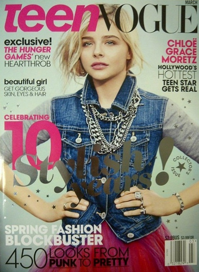 TEEN VOGUE- Chloe Grace Moretz in Chloe's World by Boo George. Nancy Rohde, March 2013, www.imageamplified.com, Image Amplified