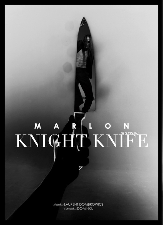 UMNO MAGAZINE- Marlon Teixeira in Knight Knife by Domino. Laurent Dumbrowicz, www.imageamplified.com, Image Amplified
