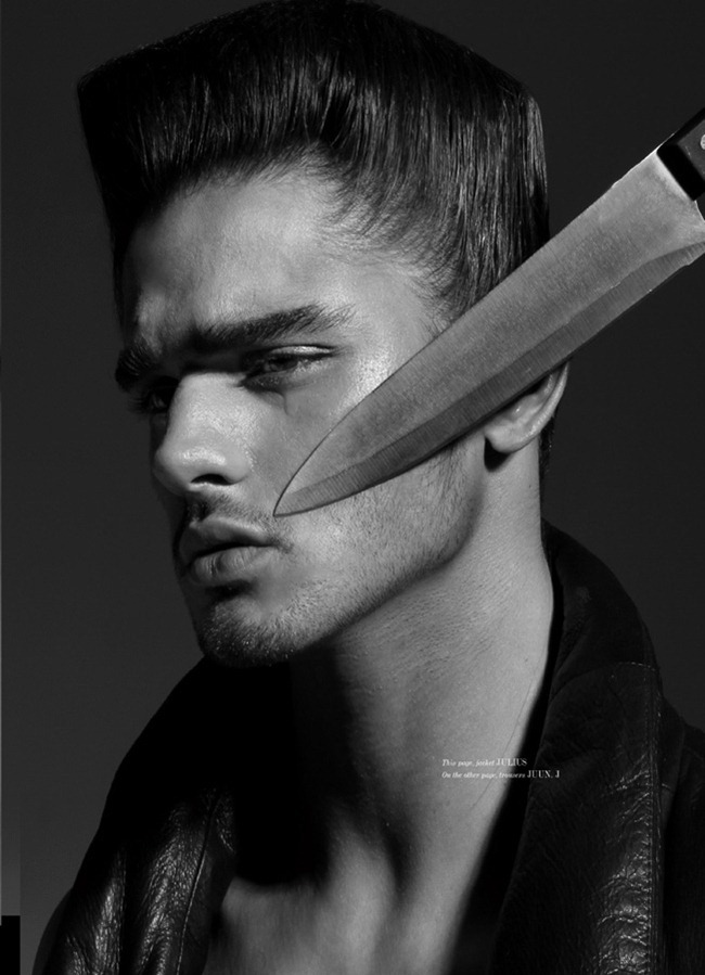 UMNO MAGAZINE- Marlon Teixeira in Knight Knife by Domino. Laurent Dumbrowicz, www.imageamplified.com, Image Amplified (1)