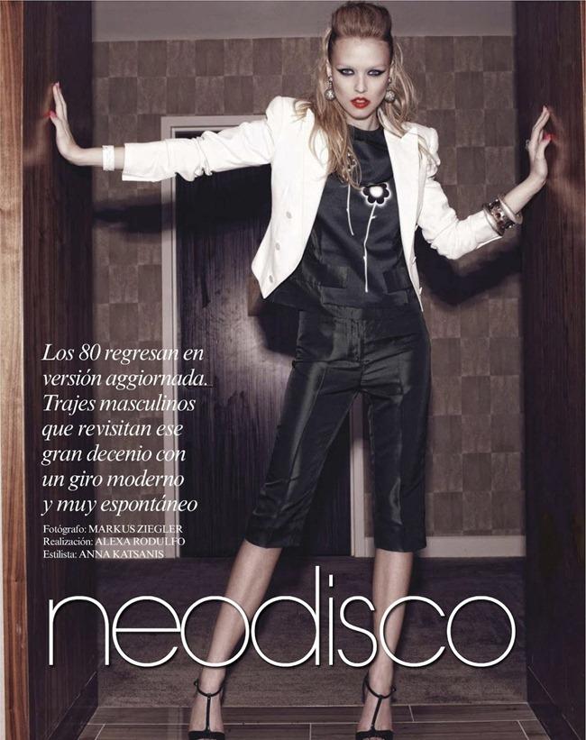 VOGUE MEXICO- Natasha Remarchuk in Neodisco by Markus Ziegler. Anna Katsanis, February 2013, www.imageamplified.com, Image Amplified