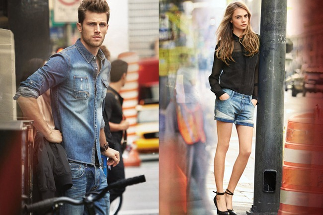 CAMPAIGN- Cara Delevigne & Baptiste Mayeux for DKNY Jeans Spring 2013 by Patrick Demarchelier. www.imageamplified.com, Image Amplified (8)