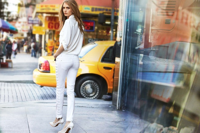 CAMPAIGN- Cara Delevigne & Baptiste Mayeux for DKNY Jeans Spring 2013 by Patrick Demarchelier. www.imageamplified.com, Image Amplified (1)