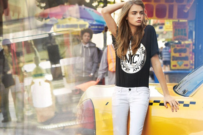 CAMPAIGN- Cara Delevigne & Baptiste Mayeux for DKNY Jeans Spring 2013 by Patrick Demarchelier. www.imageamplified.com, Image Amplified (5)