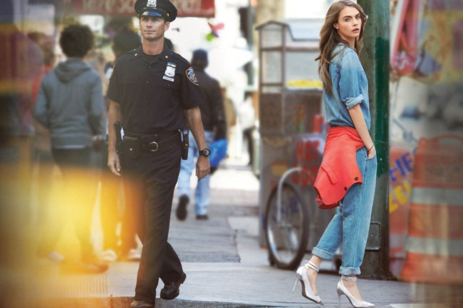 CAMPAIGN- Cara Delevigne & Baptiste Mayeux for DKNY Jeans Spring 2013 by Patrick Demarchelier. www.imageamplified.com, Image Amplified